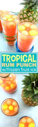 tropical rum punch with frozen fruit