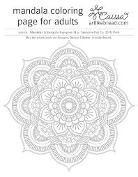art bread free mandala coloring pages download