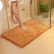 Microfiber Chenille Bath Rug Shaggy Microfibre Bathroom Shower Bath Mat Rug Carpet Non Slip
