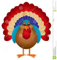 colorful turkey illustration royalty free stock photography