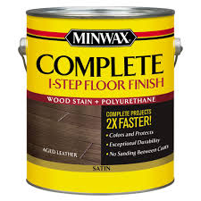 Minwax  Gal Complete Step Floor FinishAged Leather Satin - Interior wood stain colors home depot