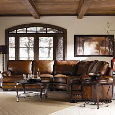 home theater sectional sofa bernhardt foster leather sectional sofa with nailhead trim
