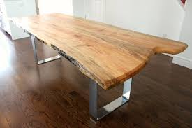 Chrome Furniture Legs by Live Edge Table Home Style Pinterest Live Edge Wood Wood