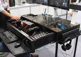 hide your high end pc in your desk with this cool case desks