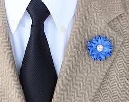 Lapel Flowers Blue Lapel Flower Etsy