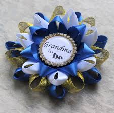 Blue And Gold Baby Shower Decorations by Royal Baby Shower Decorations Little Prince Baby Shower Corsage