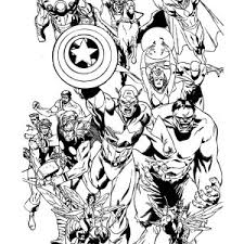 the avengers finest attack coloring page the avengers finest