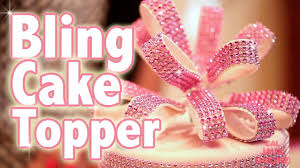 bling cake toppers fondant ribbon loops that bling as a cake topper