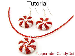 beading tutorial pattern earrings necklace holiday christmas