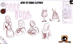 how to draw cloth drawing and digital painting tutorials online