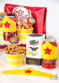 dr pepper caramel popcorn woman inspired bottle wrapper