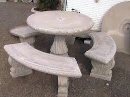 Concrete Patio Table Amazing Concrete Patio Furniture And Exle Of A Mid Sized Trendy