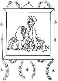 61 lady tramp coloring pages images