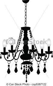 Black Chandelier Clip Art Vector Illustration Of Decorative Chandelier Csp5387122 Search