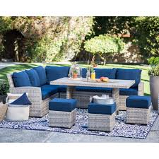 Outdoor Wicker Dining Set Belham Living Meridian 5 Piece All Weather Wicker Sofa Sectional
