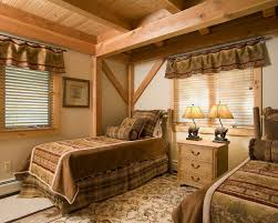 bedroom rustic bedroom decorating ideas for girl bedroom with rustic bedroom decorating ideas for girl bedroom with twin beds on beige carpet plus unusual table lamps on beige drawer with window treatments also earth