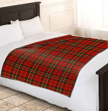 Sofa Blankets Throws Soft Warm Red Check Blanket Single Double King Tartan Sofa Throw
