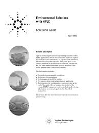 hplc solutions for environmental high performance liquid