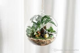 hanging air plant clear glass ball hanging air plant terrarium wedding candlestick