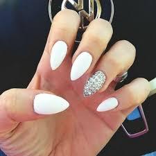 70 unique nail design ideas 2017 white stiletto nails