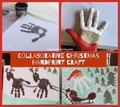 collaborative christmas handprint craft christmas handprint