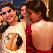 samantha tattoo on her neck samantha tamil heroines who have beautiful tattoos