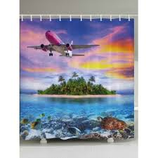 Airplane Shower Curtain Novelty Shower Curtains Cheap Casual Style Online Free Shipping At
