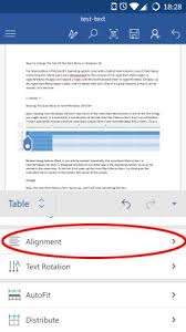 android table how to insert and edit tables in microsoft word for android page