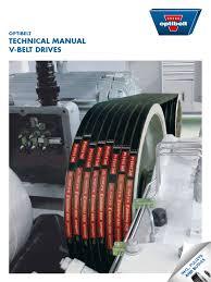 tech manual v belts belt mechanical applied and