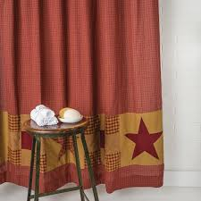 amazon com ninepatch star shower curtain w patchwork borders