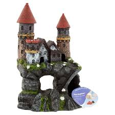 penn plax deco replicas enchanted castle medium aquarium ornament