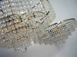 Crystal Glass Chandelier Pair 1960s Ernst Palme Crystal Glass Chandeliers For Sale At 1stdibs