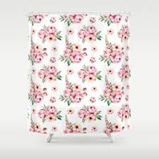 Pink Flower Shower Curtain Meadow Shower Curtains Society6