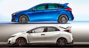 ford focus 2015 rs 2016 focus rs vs 2015 civic type r