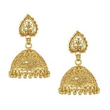 gold jhumka earrings buy shining traditional gold jhumka earrings for women