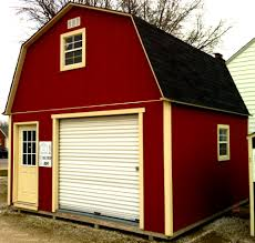 gambrel roof house storage barns built on your lot with a five year warranty