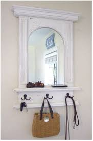 Round Bathroom Mirror With Shelf by Coat Rack With Mirror And Shelf Small Skinny Landing Table In