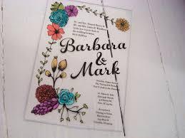 acrylic wedding invitations acrylic wedding invitation floral