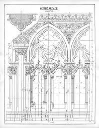 Amiens Cathedral Floor Plan Gothic Architecture Diagram