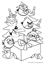christmas angry birds coloring pages kids
