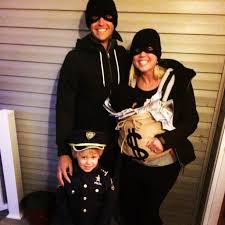 family costumes cops and robbers with the loot halloween