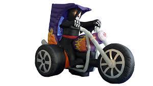 amazon com 7 foot long halloween inflatable grim reaper on