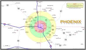 Tucson Arizona Map by Map Of Phoenix Arizona Area A2z Computer Works