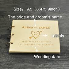 wedding sign in books aliexpress buy personalized wedding guest book rustic