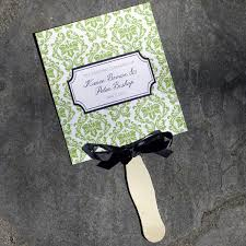 fan programs for weddings wedding fan programs template with damask design print
