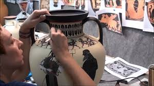 Greek Vase Painting Techniques Amassis Painter Black Figure Pottery Youtube