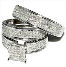 wedding ring set for him and her wedding corners