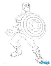 coloriage captain america imprimer funycoloring