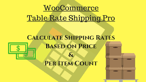 what is table rate shipping calculate price based and per item shipping rates using woocommerce