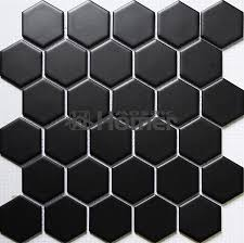 shipping free hexagon black ceramic mosaic bathroom shower tiles